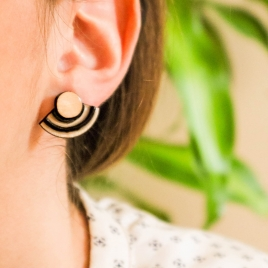 Modern geo earrings