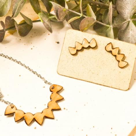 Leaf jewelry set