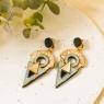 Aztec dangly earrings