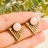 Geometric Triangle Stud Earrings
