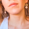 Dusty pink dangle earrings
