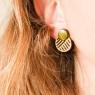 Short pink earrings