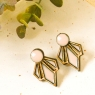 Black Art Deco Earrings