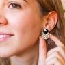 Light green earrings