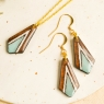 Long wood earrings bar