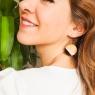 Round boho earrings