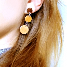 Three circles earrings
