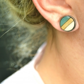 Balance stud earrings