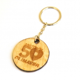 Personalized circle keychain