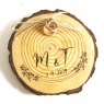 Wooden ring bearer pillow
