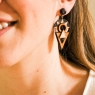 Aztec dangly earrings