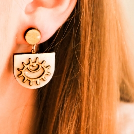 Boho eyes dangle earrings