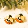 Folk flower statement earrings