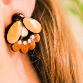 Folk flower statement earrings