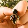 Black Art Deco Earrings