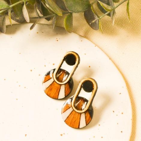 Geometrical modern earrings