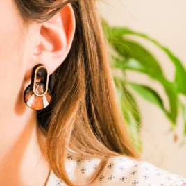Geometrical modern earrings