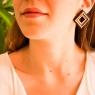 Large square earrings