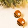 Art stud earrings in wood