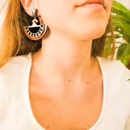 Oversize boho earrings