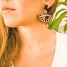 Oversize boho earrings