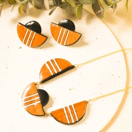 Deco statement earrings